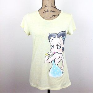 3 FOR 20 Betty Boop Baby Yellow Graphic T Shirt -